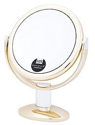 Danielle Enterprises 10X Magnification Round Vanity Mirror, Gold