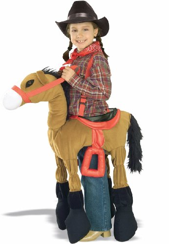 Baby Cowboy Up Costumes (Forum Novelties Children's Costume Ride A Pony - Brown, Size-Medium)