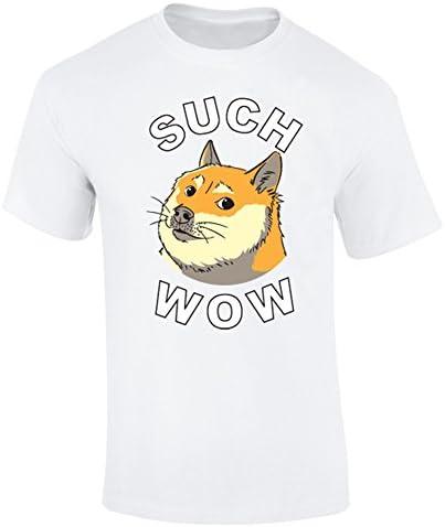 Wow para hombre carcasa Shibe Doge para cualquier dibujo de Homer e inscripción-camiseta para perro: Amazon.es: Ropa y accesorios