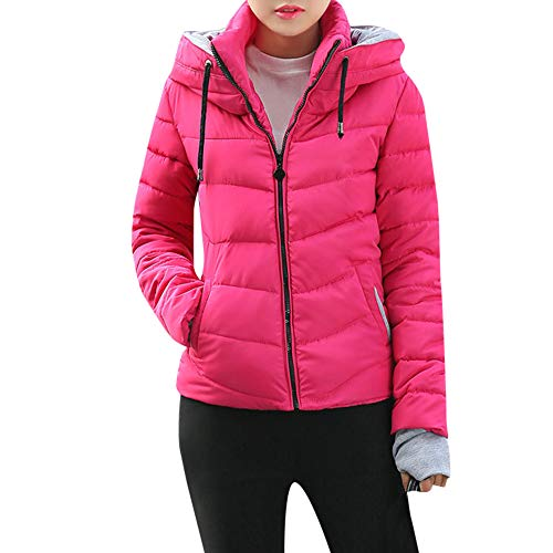 Byyong Women's Thickened Outerwear Hooded Coat Short Slim Cotton-padded Jackets Coats