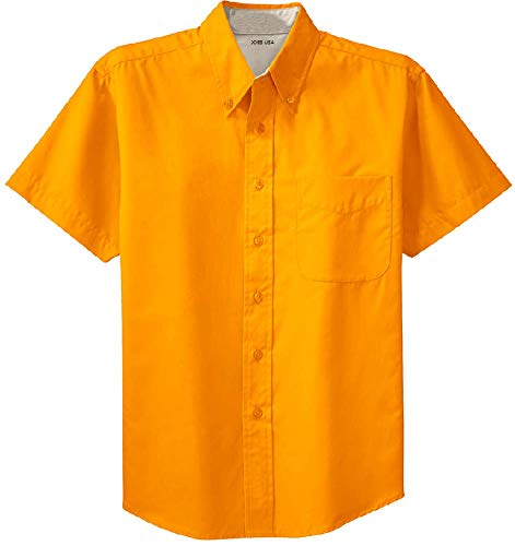 - Joe's USA - Men's Short Sleeve Wrinkle Resistant Easy Care Shirts-6XL