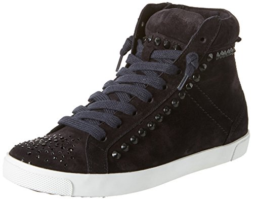 Kennel En Schmenger Schoen Fabriek Dames Queens-sneaker-stones High-top Blauw (pacific / Zwart Zool Wit)