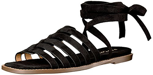 Report Women's Zella Flat Sandal, Black, 8.5 M US ()