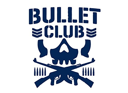 BULLET CLUB LOGO (NAVY BLUE) (set of 2) - silhouette stencil artwork by ANGDEST - Waterproof Vinyl Decal Stickers for Laptop Phone Helmet Car Window Bumper Mug Cup Door Wall Home (Laptop Stencil)