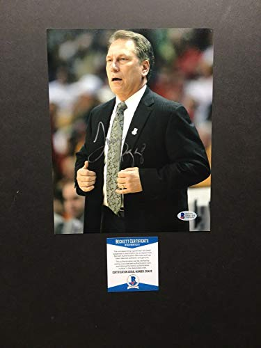 (Tom Izzo Autographed Signed Memorabilia Michigan State Spartans 8x10 Photo - Beckett)