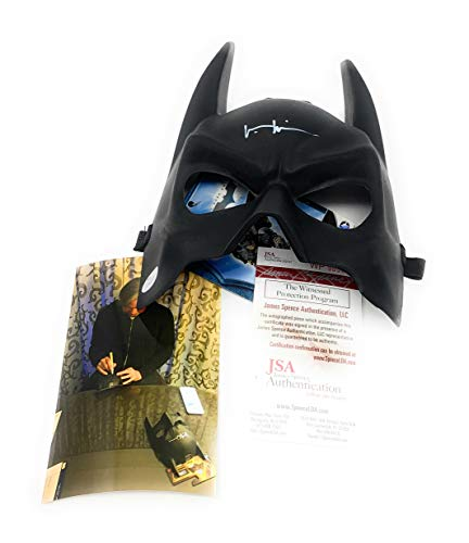 - Val Kilmer Batman Replica Mask Hand Signed Autograph Photo Proof JSA Witnessed Certified