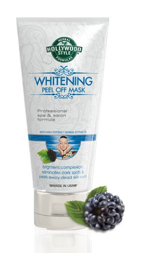Hollywood Style Whitening Peel Off Mask - Professional Spa Formulation - Off Peel Whitening Mask