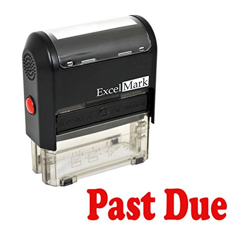 Past Due Self Inking Rubber Stamp - Red Ink ()
