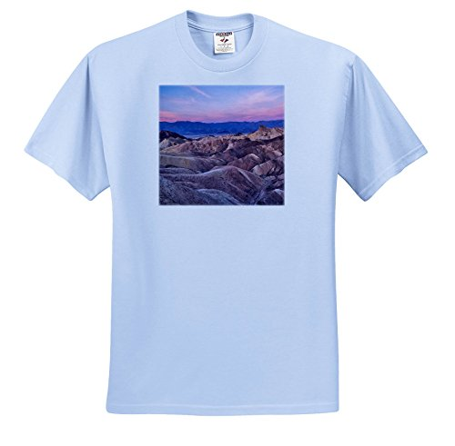 - 3dRose Danita Delimont - Deserts - USA, California, Death Valley. Sunrise Over Zabriskie Point. - T-Shirts - Light Blue Infant Lap-Shoulder Tee (12M) (ts_278595_76)