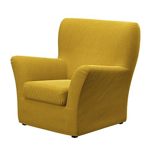 Soferia - IKEA TOMELILLA armchair cover, Elegance Dark Yellow