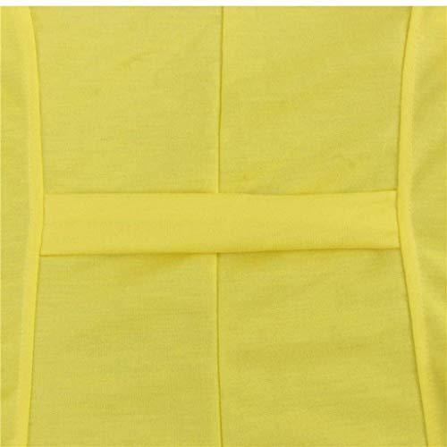Bavero Giacca Solidi Giaccone Elegante Gelb Button Tailleur Da Colori Di Autunno Outerwear Moda Cappotto Primaverile Donna Casual Grazioso Giacche Giovane Lunga Manica qXwH7BTg