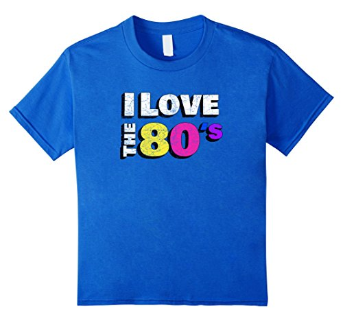 80's Themed Halloween Costume Ideas (Kids I love the 80s Shirt Retro Eighties Halloween T-Shirt 12 Royal Blue)