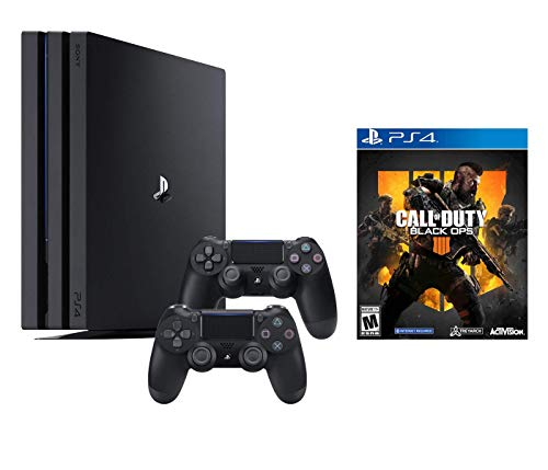 PlayStation 4 Call of Duty Black Ops IIII and 4K HDR PlayStation 4 Pro 1 TB Console with Extra Black Dualshock 4 Wireless Controller (Split-Screen Play Available)