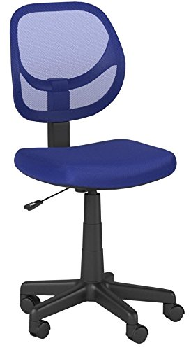 AmazonBasics Low-Back Computer Task Office Desk Chair with Swivel Casters - Blue by AmazonBasics (Image #9)