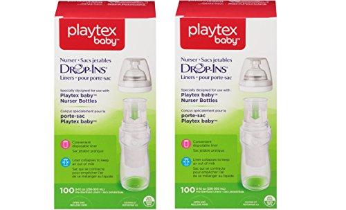 Playtex Drop-Ins Bottle Liners for Playtex Nurser Bottles, 8 oz, 100 ct ()