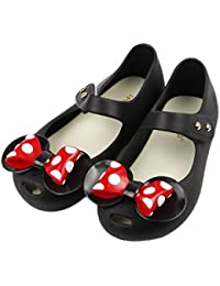 Girls Sweet Dot Bow Princess Sandals Shoes Mary Jane...