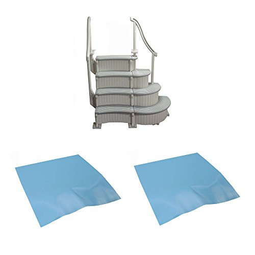 Confer Plastics 4-Step Above-Ground Swimming Pool Curved ...