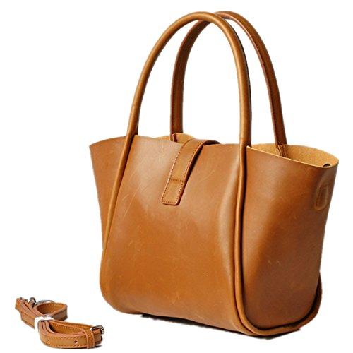Simple Leather Genuine Hermiona Handbag Shoulder Fashion Fawn Bag Crossbody pgxC6qdwC