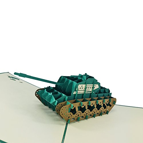 (Tank - WOW 3D Pop Up Greeting Card for All Occasions - Birthday, Congratulations, Good Luck, Anniversary, Get Well, 4th July, Military, Army)