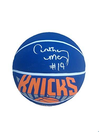 Anthony Mason Autographed Signed New York Knicks Logo Basketball JSA