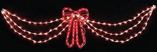 Outdoor Lighted Christmas Swag And Bow in US - 2
