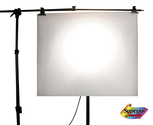 Superior Seamless Photography Diffusion Paper Roll 59-Inches wide x 25', Light Diffuser, Diffusion Filter (150013)