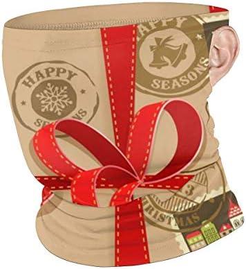 フェイスカバー Uvカット ネックガード 冷感 夏用 日焼け防止 飛沫防止 耳かけタイプ レディース メンズ Christmas Gift With Vintage Postage Stamps