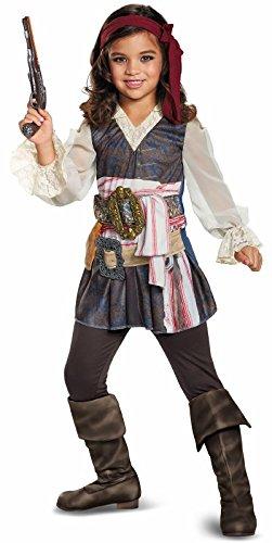 Disney POTC5 Captain Jack Sparrow Girl Classic Costume,  Multicolor,  Medium (7-8) -