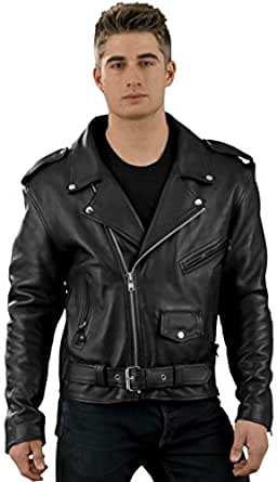 Allstate Leather Mens Tall Premium Buffalo Motorcycle Jacket Sizes 40Tall-66Tall