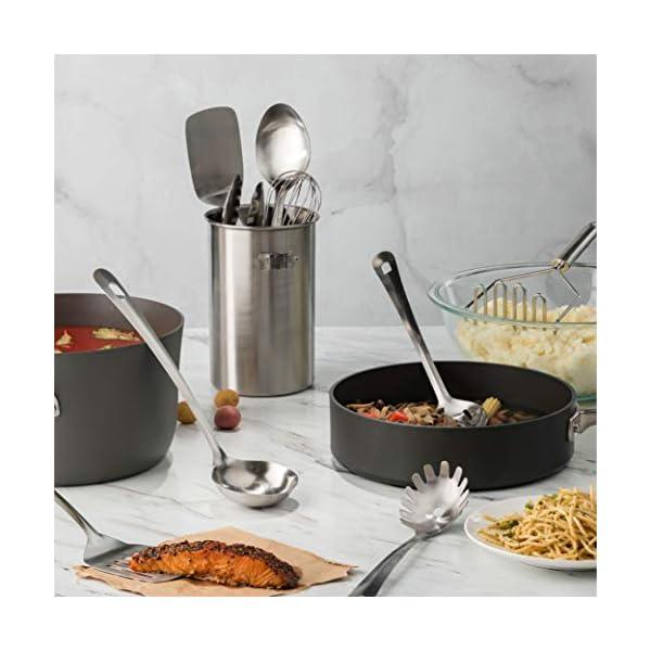 Stainless Steel Kitchen Utensil Set - 10 piece premium Non-Stick & Heat Resistant Kitchen Gadgets, Turner, Spaghetti… 2
