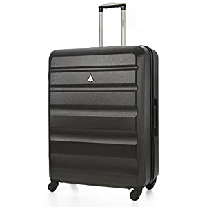 Aerolite Large Super Lightweight ABS Hard Shell Travel Hold Check in Luggage Suitcase with 4 Wheels, 29