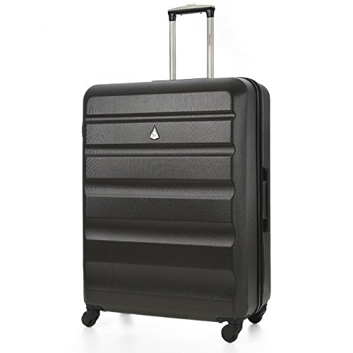 Aerolite Large Super Lightweight ABS Hard Shell Travel Hold Check in Luggage Suitcase with 4 Wheels, 29', Charcoal