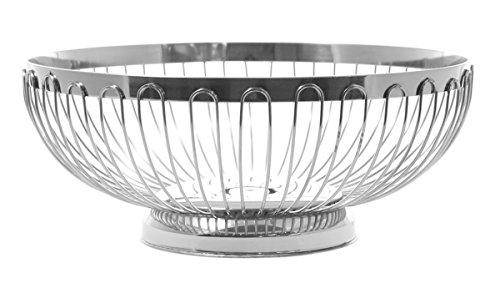 JustNile Fruit Basket Storage Holder - Stainless Steel Open Design