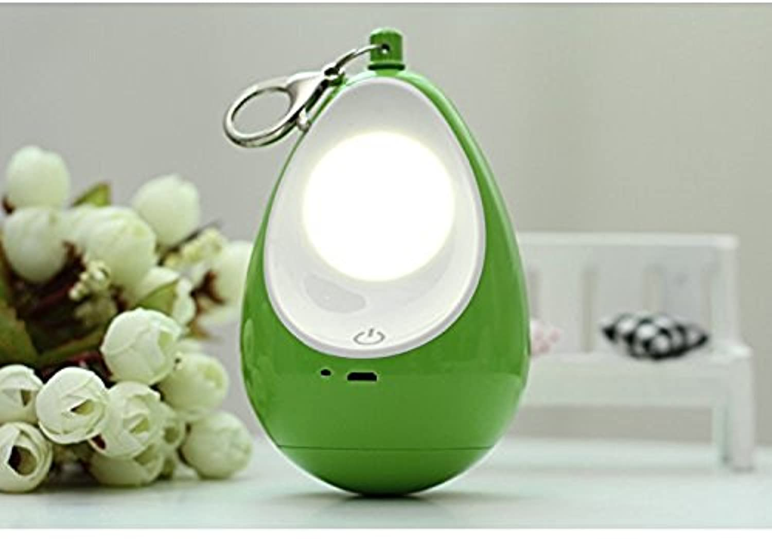 XJoel 3 Modes Rechargeable LED Camping Lantern Emergency Light Dimmable Tent Lamp Bright 100 Lumen Green