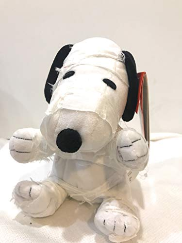 Plush Animated Snoopy as a Mummy Bouncing to Halloween Music -