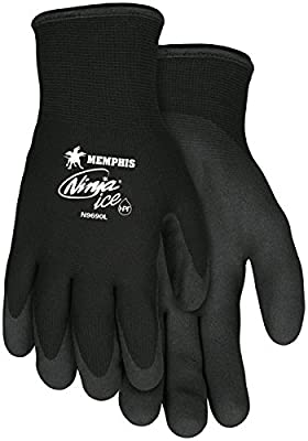 Memphis MCR Safety Ninja Ice 15 Gauge black nylon, HPT palm and fingertips