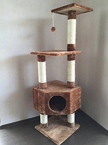 """Lemio - Árbol para gato """"Corners Cave"""" rascador para gatos (marrón)"""