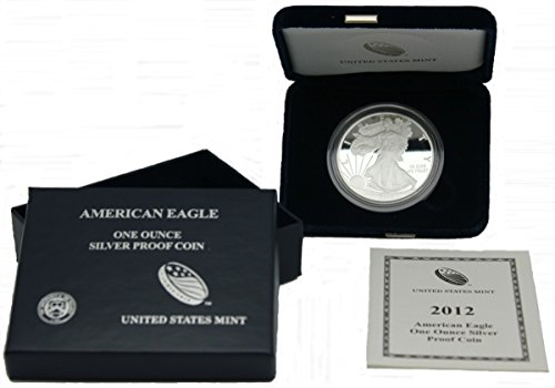 - 2012 W Proof Silver Eagle 1 Dollar in US Mint OGP