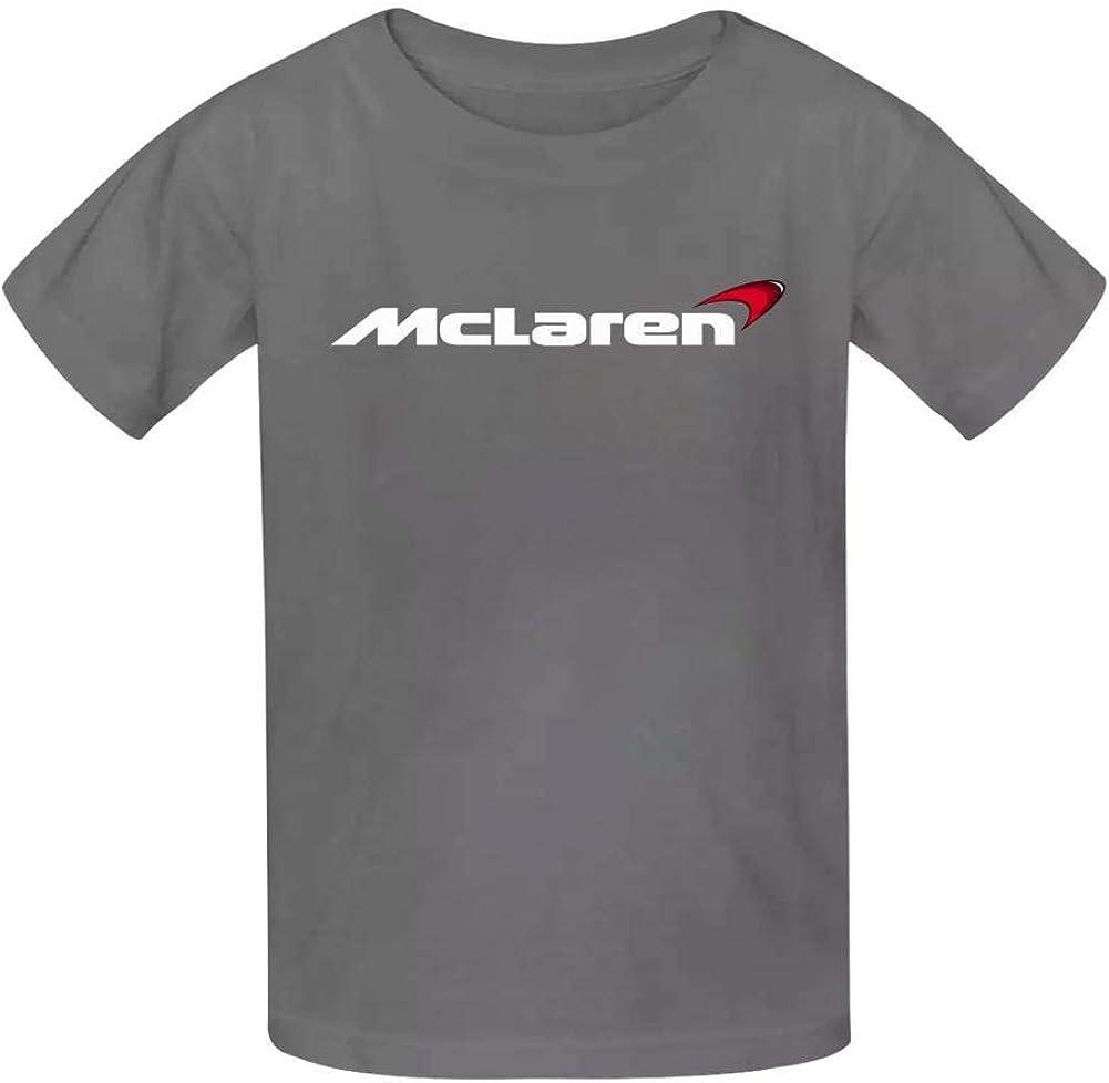 Yshoqq Kids//Youth T-Shirt McLa-ren Logo Casual Short Sleeve Tees