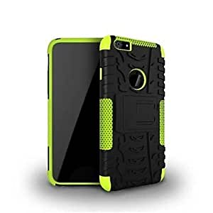 LZX 2-in-1 Hit Color Armor Bracket TPU and PC Hard Case for iPhone 6 (Assorted Colors) , Green