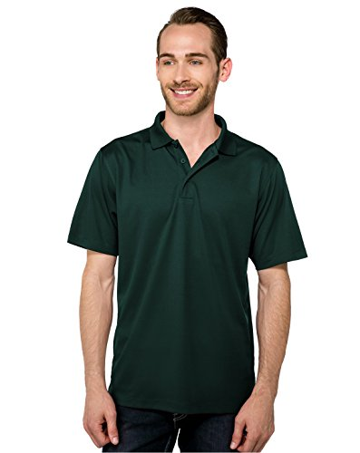 Tri Mountain Performance K020 Mens 100  Polyester Knit S S Golf Shirt   Forest Green   2Xlt