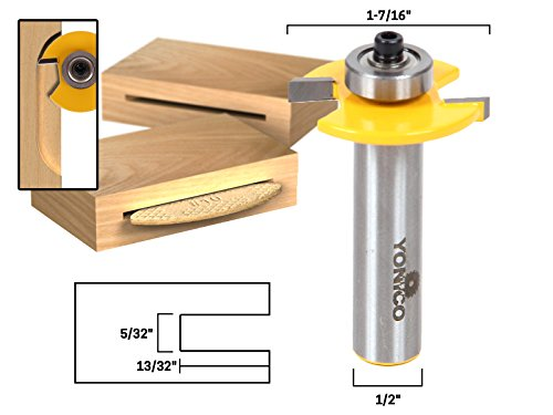Yonico 14183 Number 10 Biscuit Joint Slot Cutter Jointing/Slotting Router Bit 1/2-Inch Shank (Carbide Tipped Router Bit)