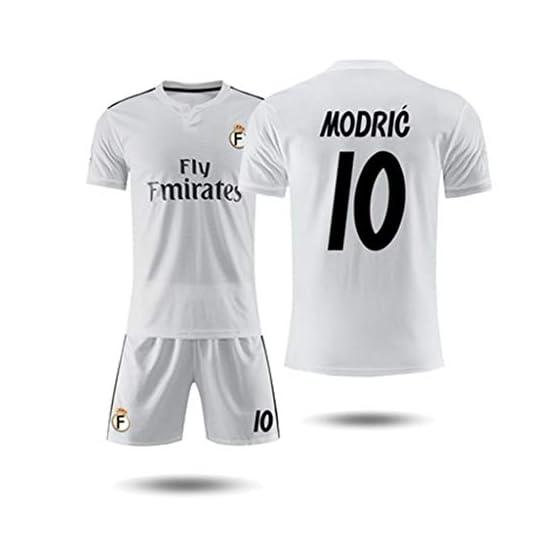 RENJUN Short de Tee-Shirt à Manches Courtes Real Madrid 18-19 Maillot Domicile 10e Maillot d'entraînement de Football Modric Magic Flute T-Shirt Basketball (Color : A, Size : M)