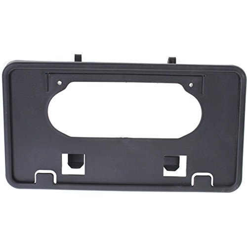 (New for 2009-2014 Ford F150 Truck Front Bumper License Plate Bracket Holder Plastic Black FO1068134 9L3Z17A385A)