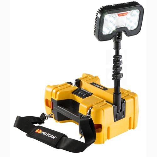 Pelican 9490 Remote Area Lighting System, 6000 Lumens, 24 Hours Low Run Time, Yellow - Pelican Remote
