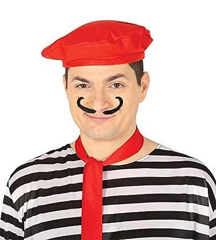 FIESTAS GUIRCA Sombrero de Boina roja para el Pintor mimo Bohemio de la  Mascarada ba9b3df7f63