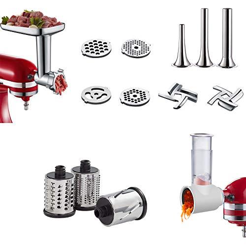 Slicer/Shredder & Metal Food Grinder Attachment for KitchenAid Stand Mixers