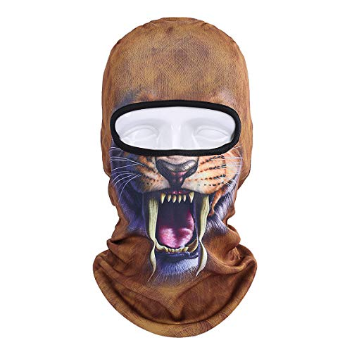LKXHarleya 3D Animal Balaclava Full Face Mask UV Protection Breathable Neck Warmer for Outdoor Cycling Motorcycle Fishing Camping Climbing Halloween Costume]()
