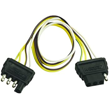 amazon com wesbar 707261 wishbone style trailer wiring harness wesbar 4 way flat extension harness 2 feet