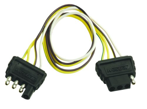 Wesbar 4-Way Flat Extension Harness, 2-Feet